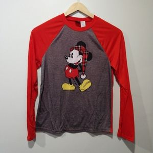 Disney Mickey Mouse Long Sleeve Raglan PJ Top